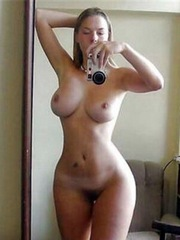 This naked nymph has a beautiful body,..