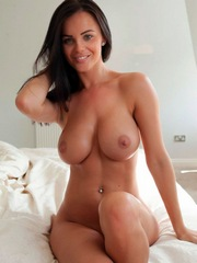 Cheerful Spanish girlfriend posing nude..