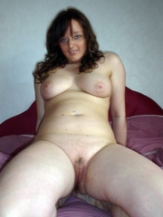 The busty girlfriend fully strips and..