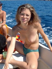 Sexy Dutch wife shows her breasts on..