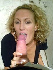 Horny wife shows her breasts and sucks..