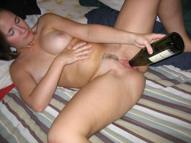 ex girlfriend bottle in pussy