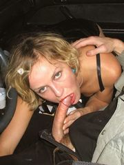 Real street slut making amateur blowjob..