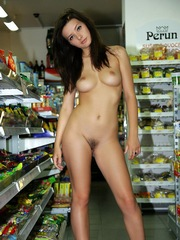 Slender beauty without clothes roam in..