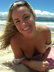 Wife shows her breasts on honeymoon..