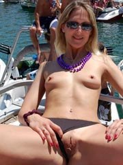 Hairy mature wife with saggy tits nude..